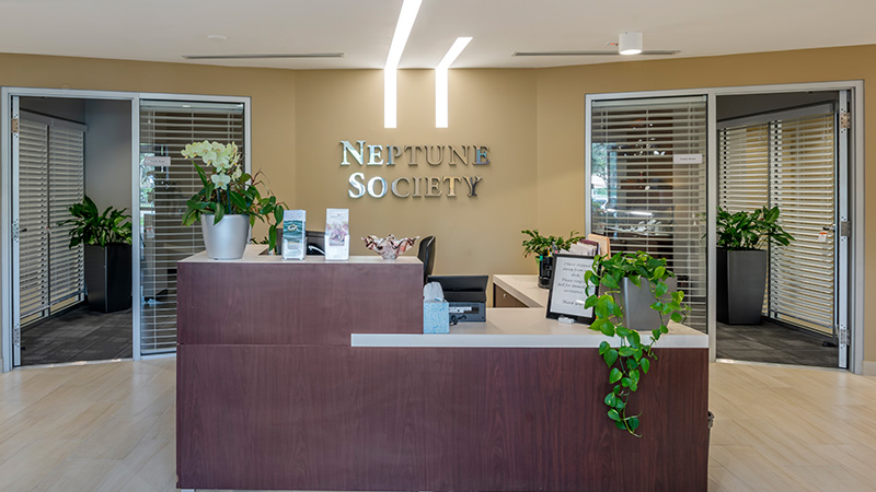 Neptune Society Cremation Fort Lauderdale / Plantation, FL office lobby