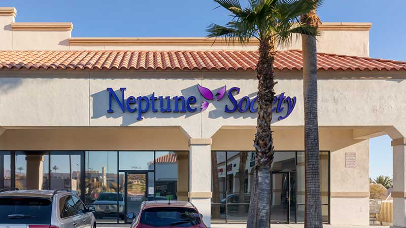 Neptune Society Cremation Services Las Vegas, NV office entrance