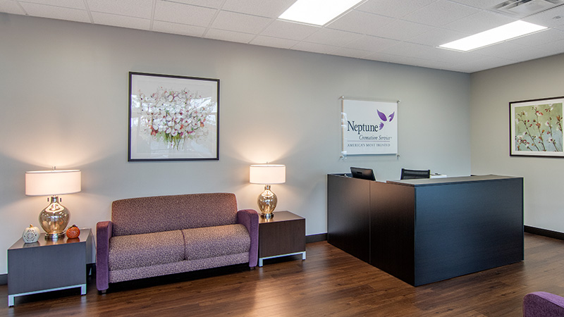 Neptune Society Cremation Services Hartford, CT front desk