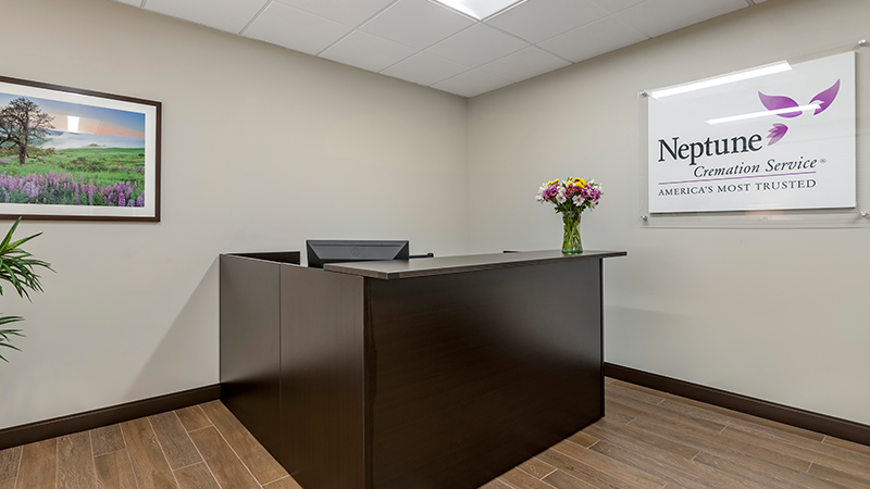 Neptune Society Cremation Services Des Moines, IA front desk